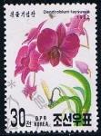 Stamps North Korea -  Scott  3109  dendrobium