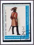 Stamps United Arab Emirates -  Dutch Foot Guards - Inglaterra  XVIIº S.