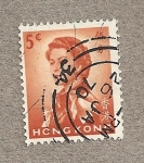 Stamps Hong Kong -  Reina Isabel