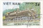 Stamps Vietnam -  ferrocarriles de vapor