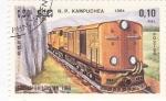 Stamps Cambodia -  ferrocarriles