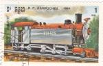 Stamps Cambodia -  ferrocarriles de vapor