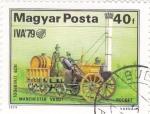 Stamps Hungary -  ferrocarriles de vapor