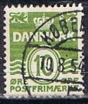 Stamps Denmark -  Scott  228  Cifras  (2)