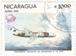 Stamps Nicaragua -  centenario adhesion nicaragua a la upu