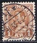 Stamps Denmark -  Scott  241  Rey Cristian X (3)