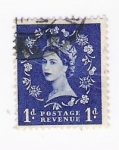 Stamps United Kingdom -  Queen Elizabeth II (repetido)
