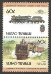 Stamps Oceania - Tuvalu -  locomotora f.m.s.r. class 0 4-6-2 1938 malaya