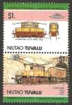 Stamps Oceania - Tuvalu -  locomotora italiana