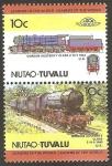 Sellos del Mundo : Oceania : Tuvalu : locomotora U.K.