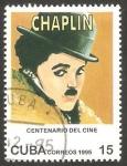 Sellos de America - Cuba -  3478 - Centº del cine, Charlie Chaplin