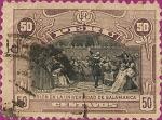 Stamps Peru -  Colón en la Universidad de Salamanca.