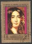 Stamps : Asia : United_Arab_Emirates :  Chopin, su compañera Amandine Aurore Lucile Dupin, George Sand