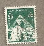 sellos de Africa - Egipto -  Esfinge y Pirámide