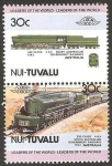 Sellos del Mundo : Oceania : Tuvalu : locomotora australiana