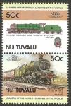 Sellos del Mundo : Oceania : Tuvalu : locomotora británica
