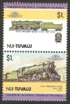 Sellos del Mundo : Oceania : Tuvalu : locomotora USA