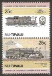 Stamps Oceania - Tuvalu -  locomotora USA