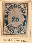Stamps Mexico -  Porte de Mar Ed 1879