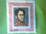 Stamps Venezuela -  Libertador y Padre de la Patria-Simón Bolivar (Autor:José Gil de Castro 1825)