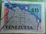 Sellos de America - Venezuela -  Reclamación de su Guayana(Mapa deJ.M. Restrepo 1827)