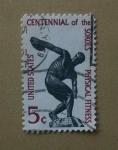 Stamps United States -  Lanzador de Disco.