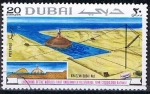 Sellos de Asia - Emiratos Árabes Unidos -  Scott  114  Puesta en marcha del tanque de storaje (8)