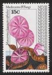 Stamps America - Saint Kitts and Nevis -  SETAS-HONGOS: 1.198.021,00-Marasmius haematocephalus