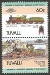 Stamps Oceania - Tuvalu -  locomotora lord of the isles achilles, tipo 4-2-2-c 1892 de Gran Bretaña