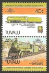 Sellos del Mundo : Oceania : Tuvalu : locomotora de Australia