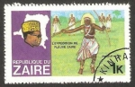 Stamps : Africa : Democratic_Republic_of_the_Congo :  Zaire - Expedición por el río Zaire