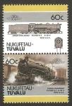Sellos del Mundo : Oceania : Tuvalu : locomotora union railroad class s-7 0-10-2 1936 USA