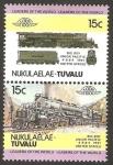 Stamps Tuvalu -  locomotora USA