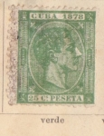 Stamps America - Cuba -  Alfonso XII Ed 1878