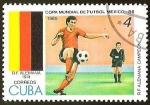Sellos del Mundo : America : Cuba : COPA MUNDIAL DE FUTBOL MEXICO 86 - R.F ALEMANA
