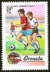 Sellos del Mundo : America : Granada : WORLD CUP 1974 - WEST GERMANY V/S CHILE