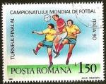 Sellos del Mundo : Europa : Rumania : TURNEUL FINAL AL CAMPIONATULUI MONDIAL DE FOTBAL ITALIA 90