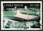 Sellos del Mundo : Africa : Santo_Tomé_y_Principe : FRANCA 98 - ESTADIO