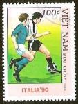 Sellos del Mundo : Asia : Vietnam : FUTBOL - ITALIA 90