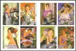 Sellos del Mundo : Europa : España : 4003 a 4010 - Alfredo Roldán, serie La mujer y las flores