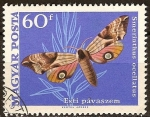Sellos del Mundo : Europa : Hungría : Smerinthus ocellatus (Ojos la polilla halcón ).