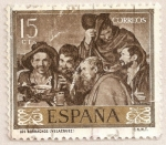 Stamps : Europe : Spain :  Velázquez - Los borrachos