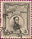 Sellos del Mundo : America : Perú : Centenario de la Batalla de Ayacucho. Simón Bolívar.
