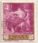 Stamps : Europe : Spain :  Velázquez - Las hilanderas