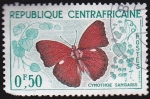 Stamps Africa - Central African Republic -  mariposas