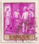 Stamps : Europe : Spain :  Velázquez - La fragua de Vulcano
