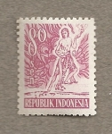Stamps Indonesia -  Danzarín
