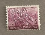 Sellos de Asia - Indonesia -  Planta café