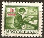 Sellos de Europa - Hungría -  Por gastos de envío - operador de perforadora