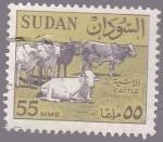 Sellos del Mundo : Africa : Sudán : bacas